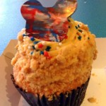 New! 4th of July Caramel Apple Cupcake at Disney's Hollywood Studios