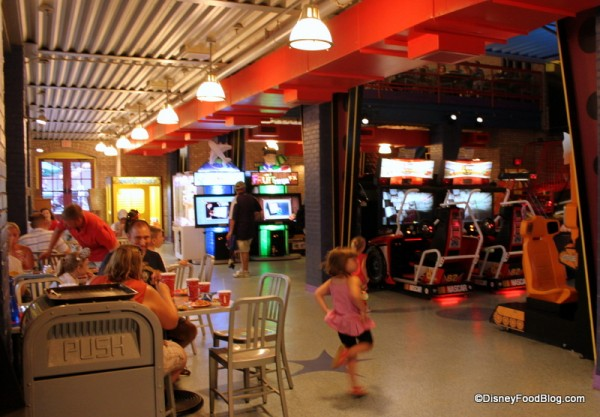 Video Games and Seating Area