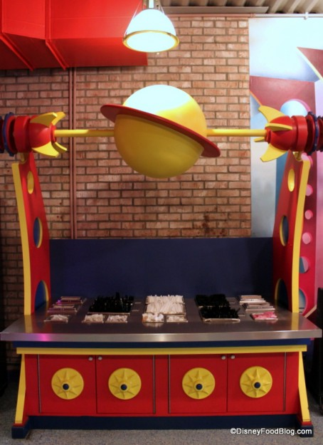 Utensil and Napkin Station at the former Pizza Planet