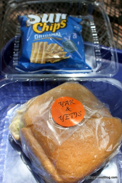 Asian Chicken Sandwich and Sun Chips Packaging