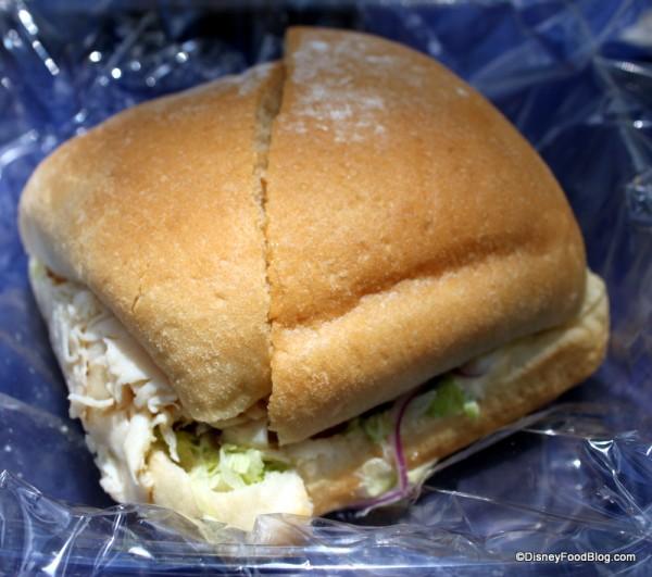 Asian Chicken Sandwich close up