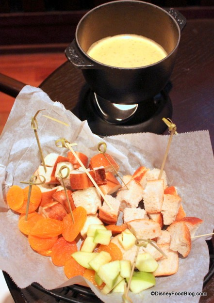 Our favorite Sharp Cheddar Beer Fondue at Territory Lounge