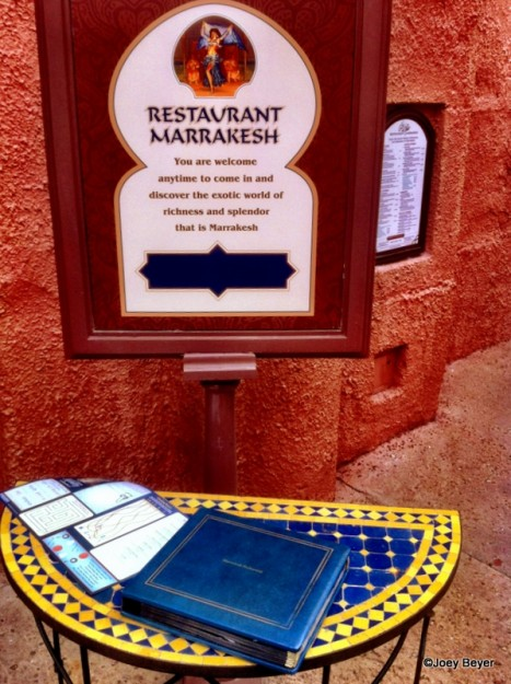 Marrakesh Sign and Menu Book