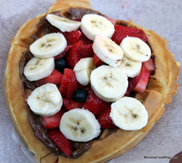 Nutella and Fruit Waffle Sandwich