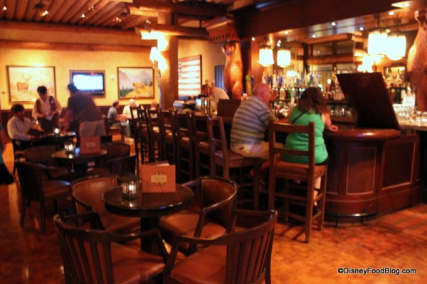 Bar Area and Round Table Seating at Territory Lounge