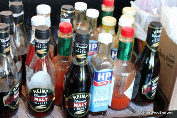 Additional Condiments - Gotta Have Malt Vinegar for Fish and Chips!
