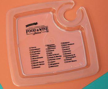 Food and Wine Fest Tasting Plate