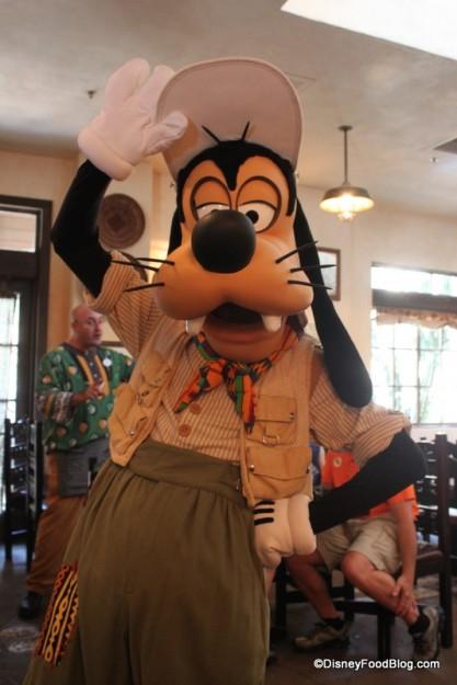 Goofy Strikes at Pose at Tusker House in Disney's Animal Kingdom