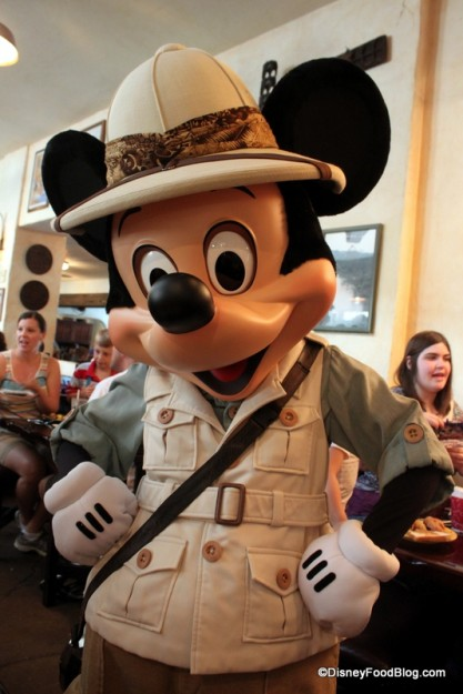 Mickey in Safari Costume at Tusker House