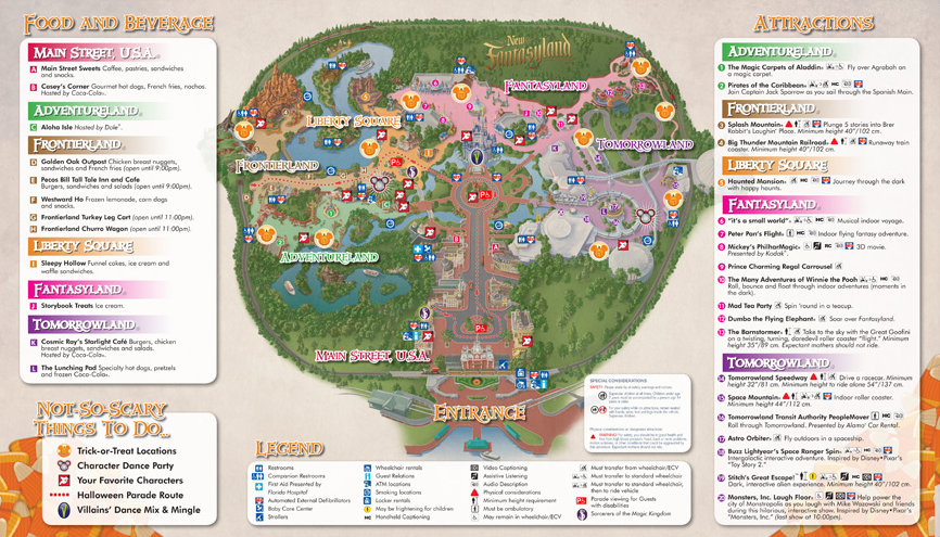 Trick Or Treat Map Mickey's Not So Scary Halloween Party Trick or Treat Map, and  Trick Or Treat Map