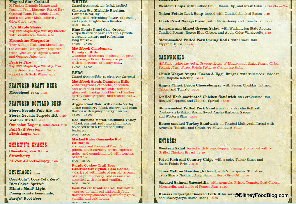 The Skillet Restaurant Menu