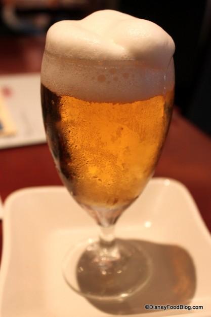 Frozen Kirin Beer in Epcot's Japan