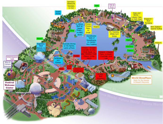 And Food Wine Map 2017 Epcot Festival 3