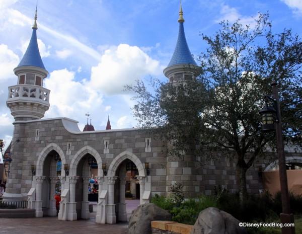 Wall into the New Fantasyland in Disney World's Magic Kingdom