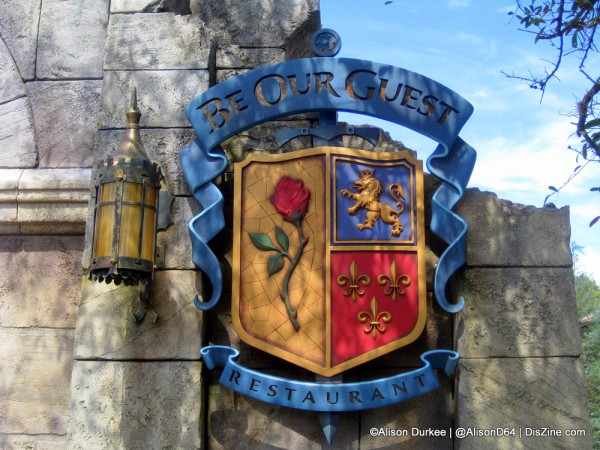 Be Our Guest Restaurant Sign