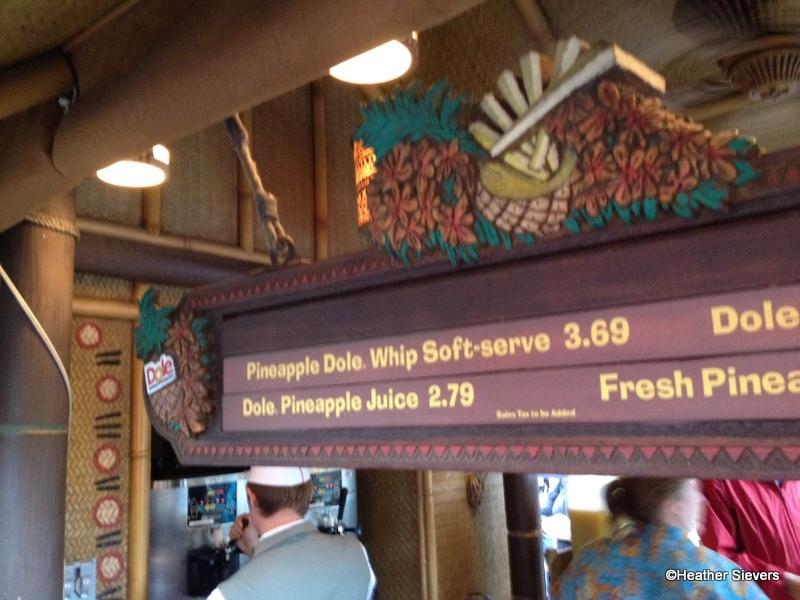 Enchanted Tiki Room Disneyland Menu