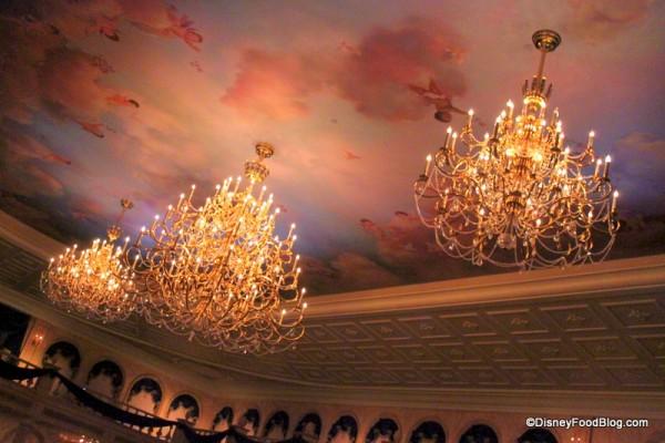 Ceilings in Ballroom