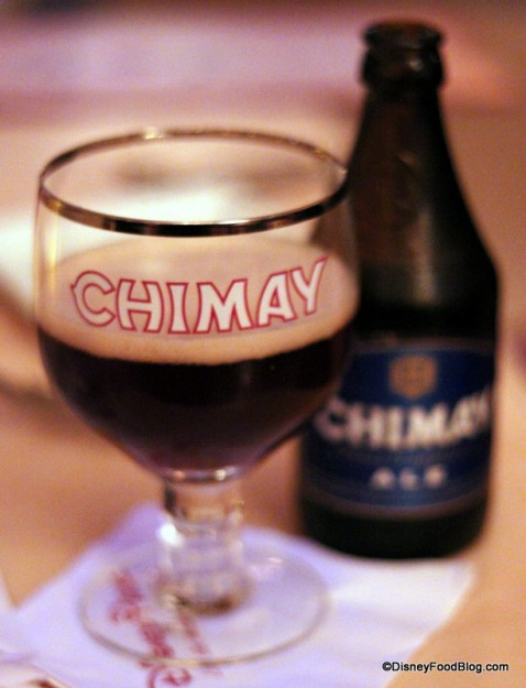 Chimay Blue at Be Our Guest Restaurant