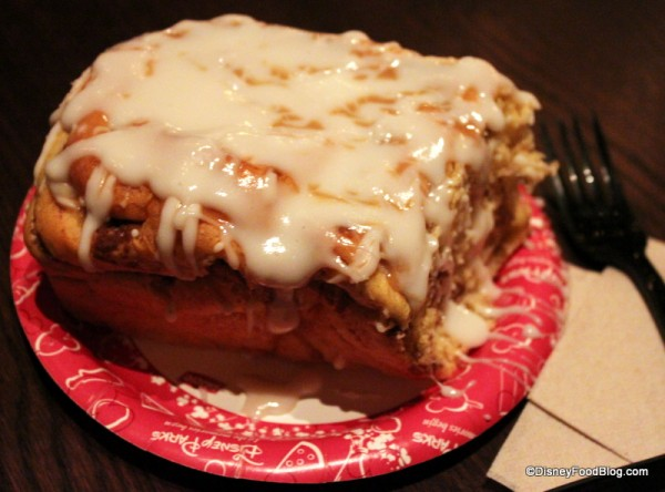 Gaston's Tavern Cinnamon Roll -- with extra icing