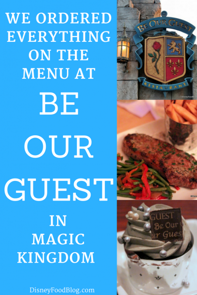 We ordered EVERYTHING on the menu at Magic Kingdom's Be Our Guest - here's our review!