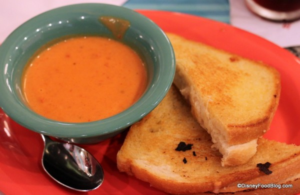 Tomato Bisque and Grilled Cheese Sandwich at Beaches and Cream