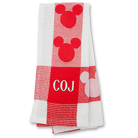 Red Mickey Mouse Kitchen Towel    Personalizable ...
