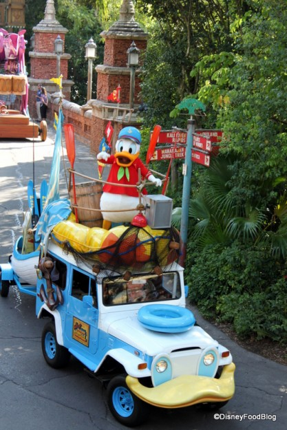 Watch the Jammin Jungle Parade from Yak and Yeti Restaurant in Disney's Animal Kingdom!