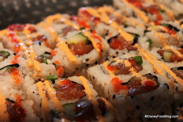 Sushi at Splitsville