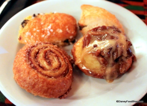 Breakfast Pastries from one of our favorite buffets -- Boma in Disney's Animal Kingdom Lodge!