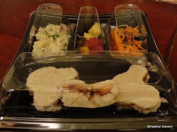Kids Meal: Mickey Shaped PB&J instead of Roast Beef and Ham