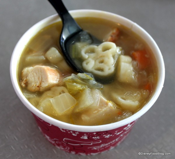 Indulge in a cup of Mickey Noodle Soup for your snack credit