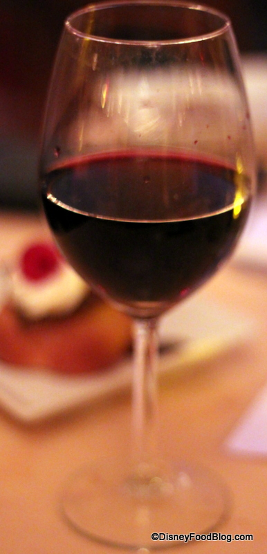 Glass of Wine at Be Our Guest Restaurant