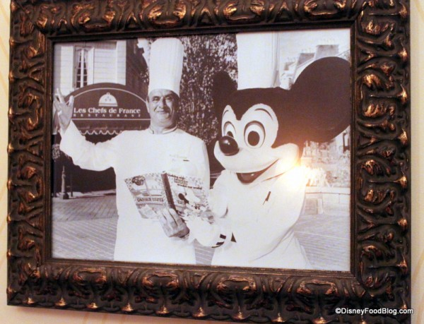 Chef Bucose with Mickey at Opening of Chefs de France
