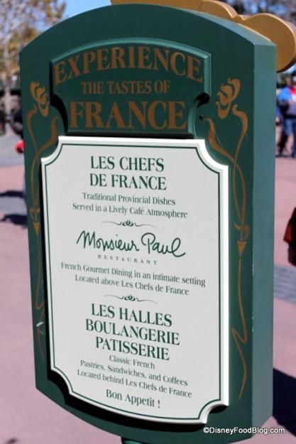 In front of France Restaurants Monsieur Paul