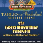 Tables in Wonderland March Events: The Great Movie Ride Dinner