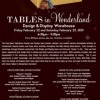 February Tables in Wonderland Events: Design and Display Warehouse Event and Discovery Dinner!