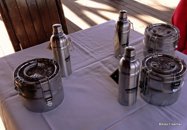 Tiffins in use on Wild Africa Trek