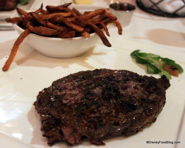 Ribeye with Herb Fries at Yachtsman Steakhouse