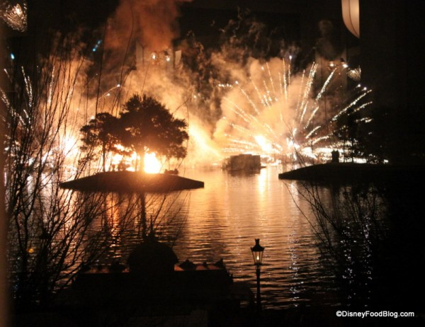 View of IllumiNations from Monsieur Paul