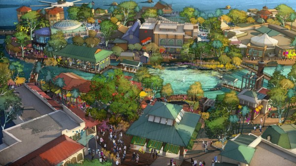 Concept Art for Disney Springs' Town Center