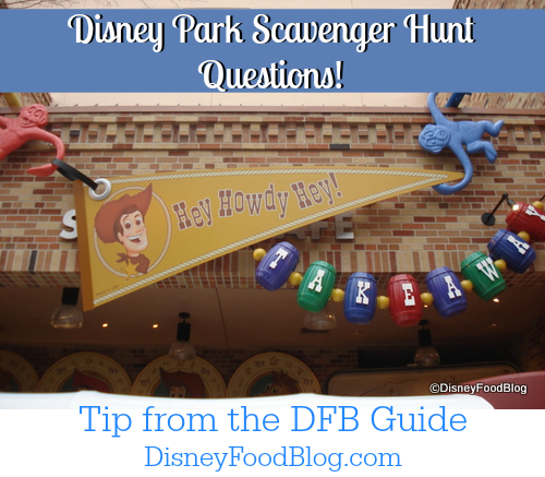 Disney Park Scavenger Hunt Questions