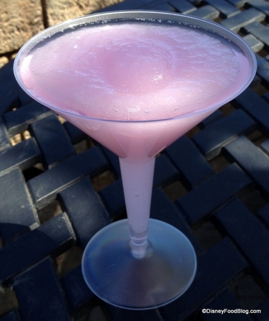 La Vie en Rose Frozen Slush (Grey Goose Vodka Orange, St. Germain liquor with White and Red Cranberry Juice)