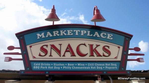 Marketplace Snacks in Downtown Disney