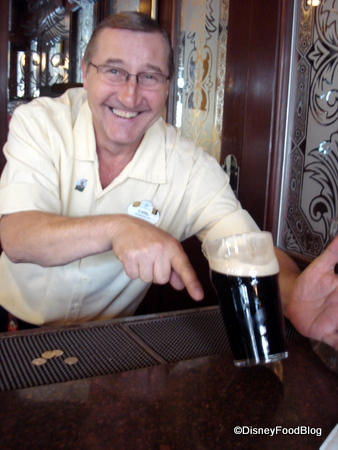 Cheers with Carl at Rose and Crown