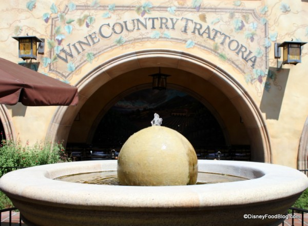 Wine Country Trattoria at Disney California Adventure in Disneyland