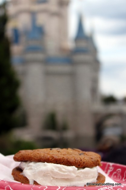 Who Can Resist a Handmade Ice Cream Cookie Sandwich in the Shadow of Cinderella Castle??