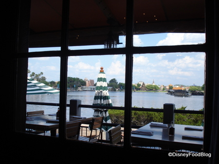 view-through-window-of-patio Rose and Crown