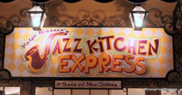 Jazz Kitchen in disneyland's downtown disney Ralph Brennan's Jazz Kitchen Express