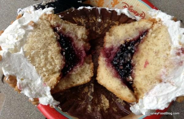 Jelly in PB&J Cupcake