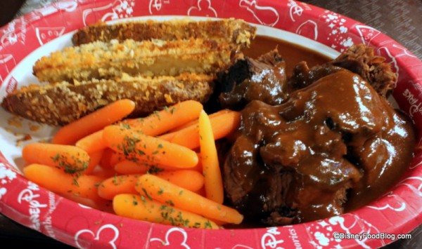 Pot Roast Platter at the Contempo Cafe